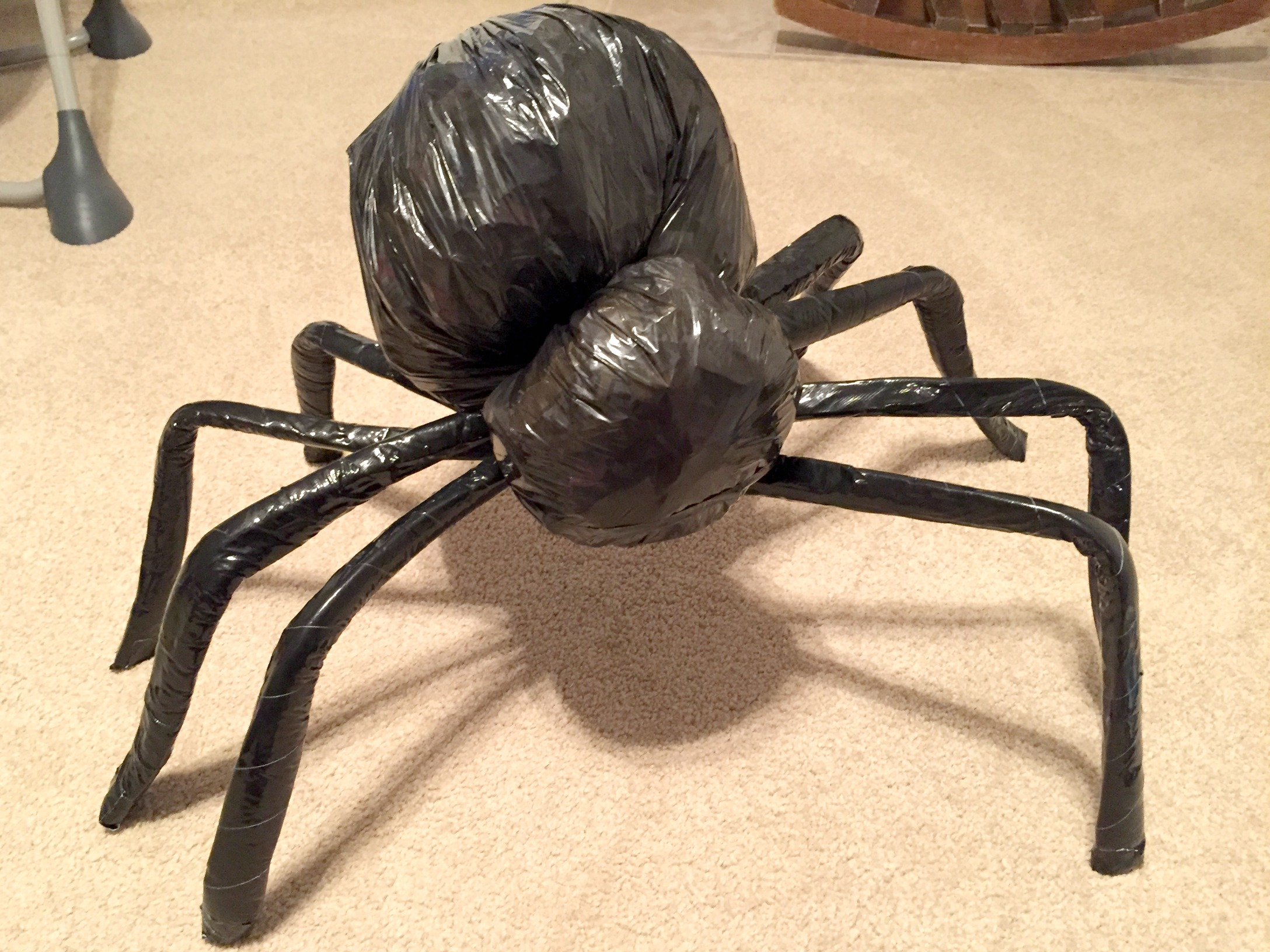 my toddler was totally terrified slight oversight so i figure it was a job well done creepy giant spideru2026 check