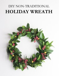 Non-Traditional Holiday Wreath - The Crafted Life