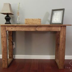 Build Sofa Table Sleeper Queen 25 Console With Free Plans The Crafted Maker