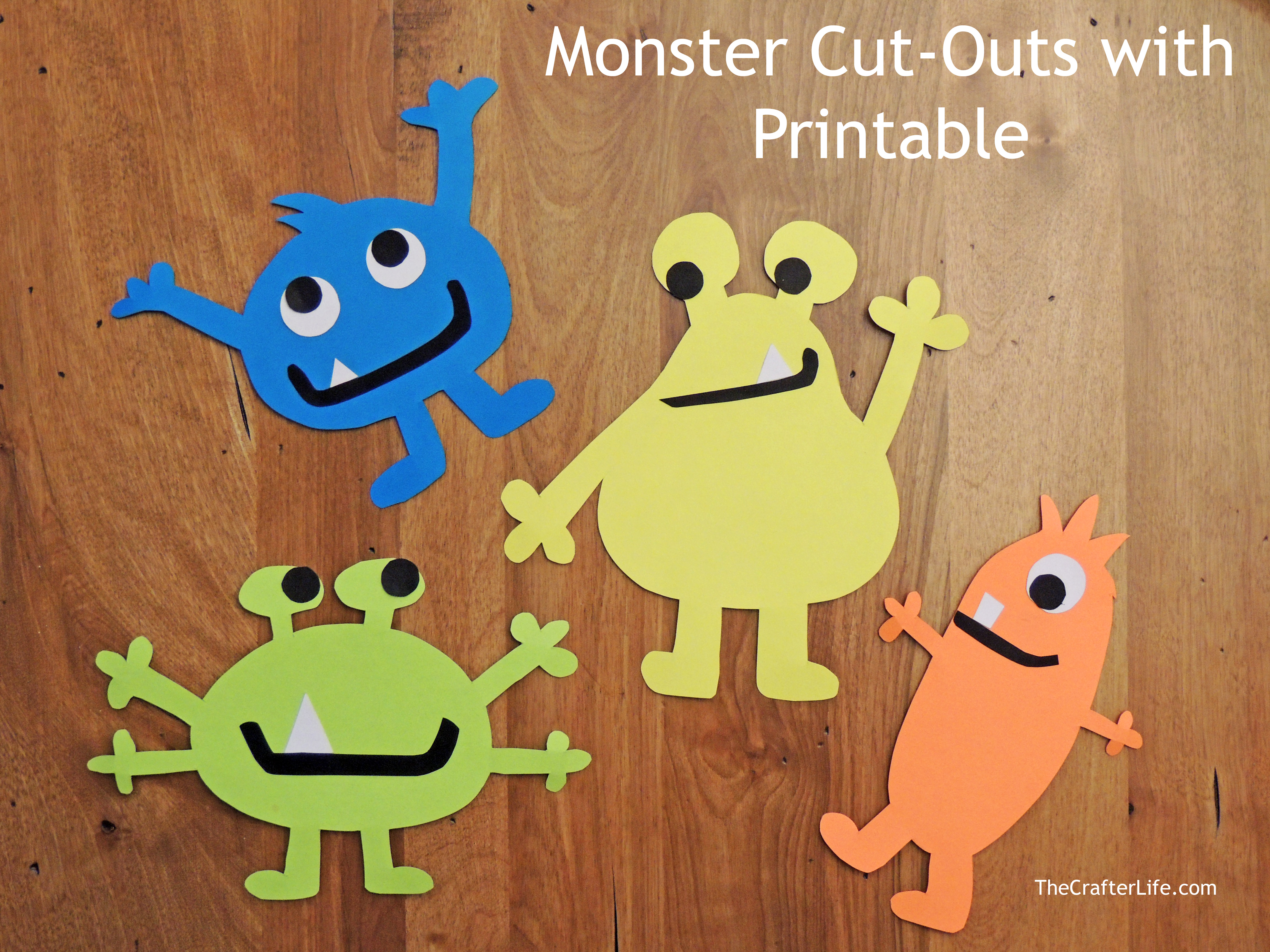 Monster Cut Outs With Printable
