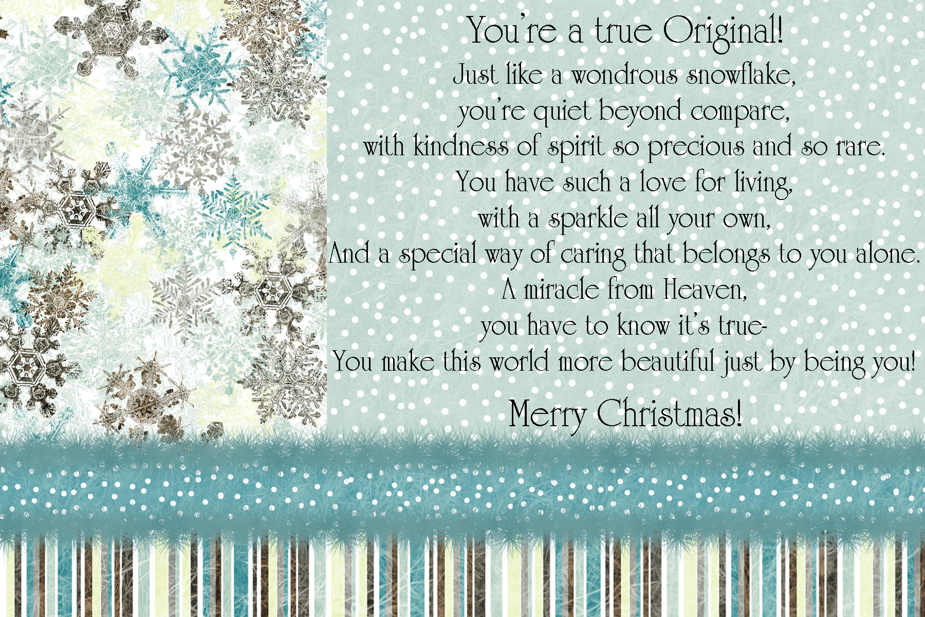 Snowflake Ornament And T Tag