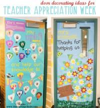 Decorate Your Teacher's Door {Teacher Appreciation Week ...