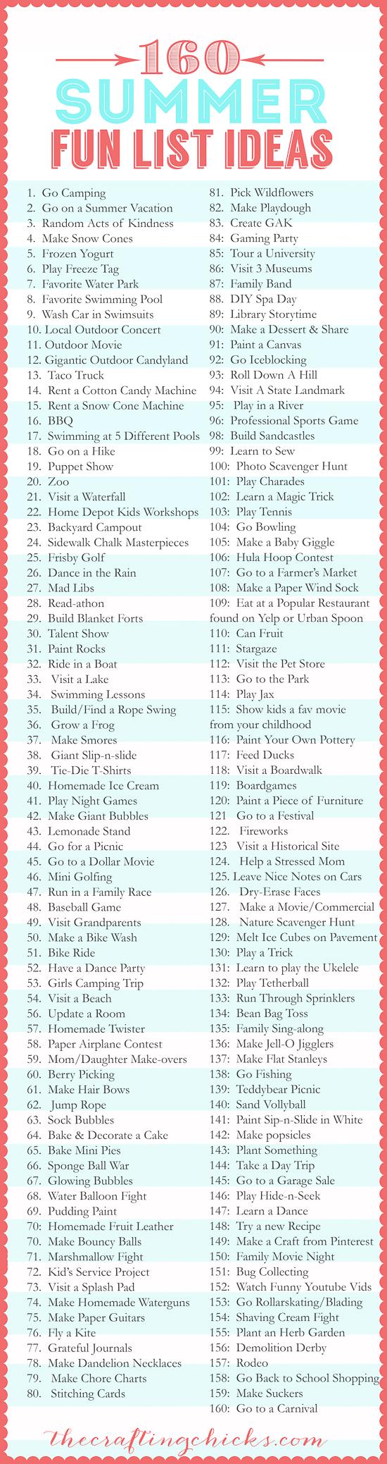 160 Summer Fun List IdeasAQUA-2