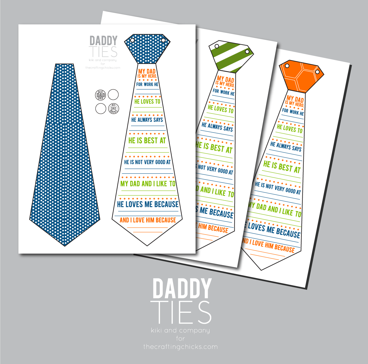 Daddy Ties Free Father S Day Printable