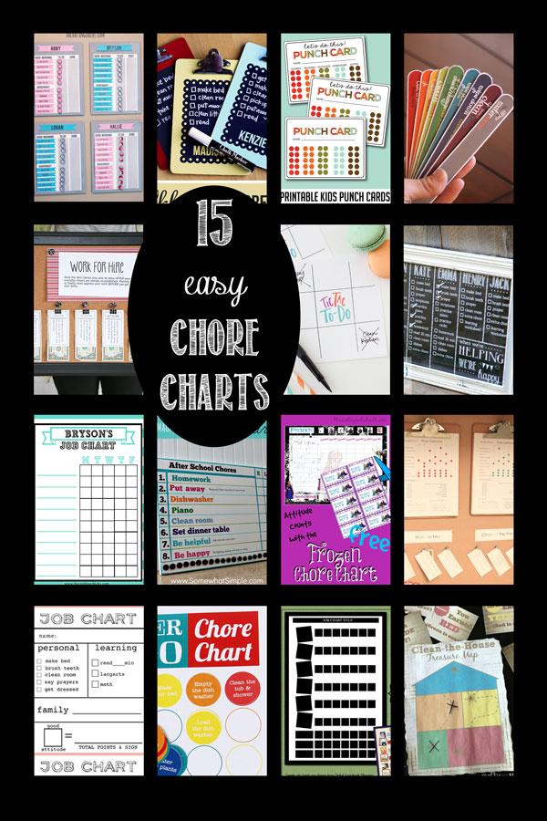 work chart template