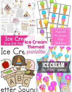 Ice cream themed kids activities printables recipes my will love also rh thecraftingchicks