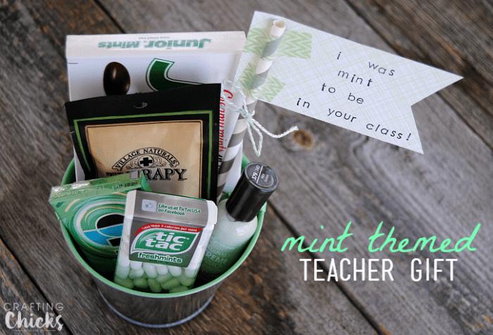 Mint Themed Teacher Gift Easy Amp Affordable