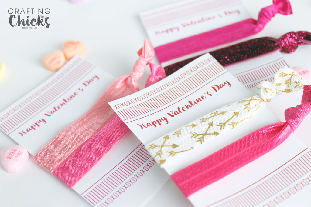 Valentine Elastic Hair Tie Cards The Crafting Chicks