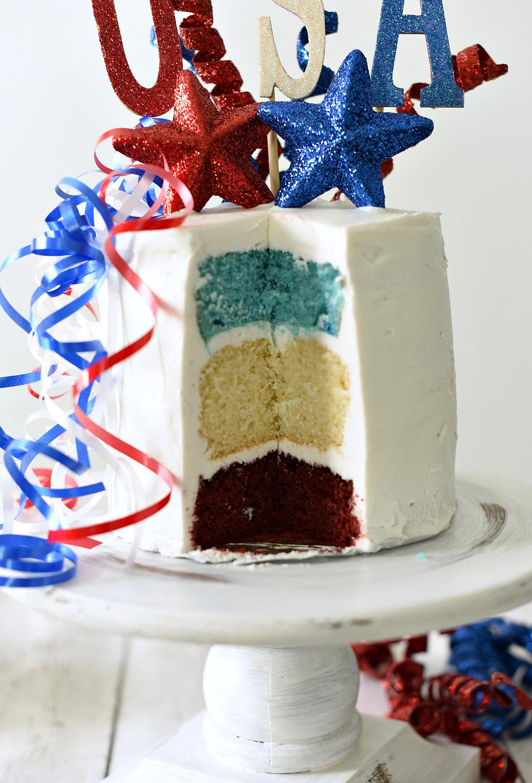 Patriotic Usa Cake