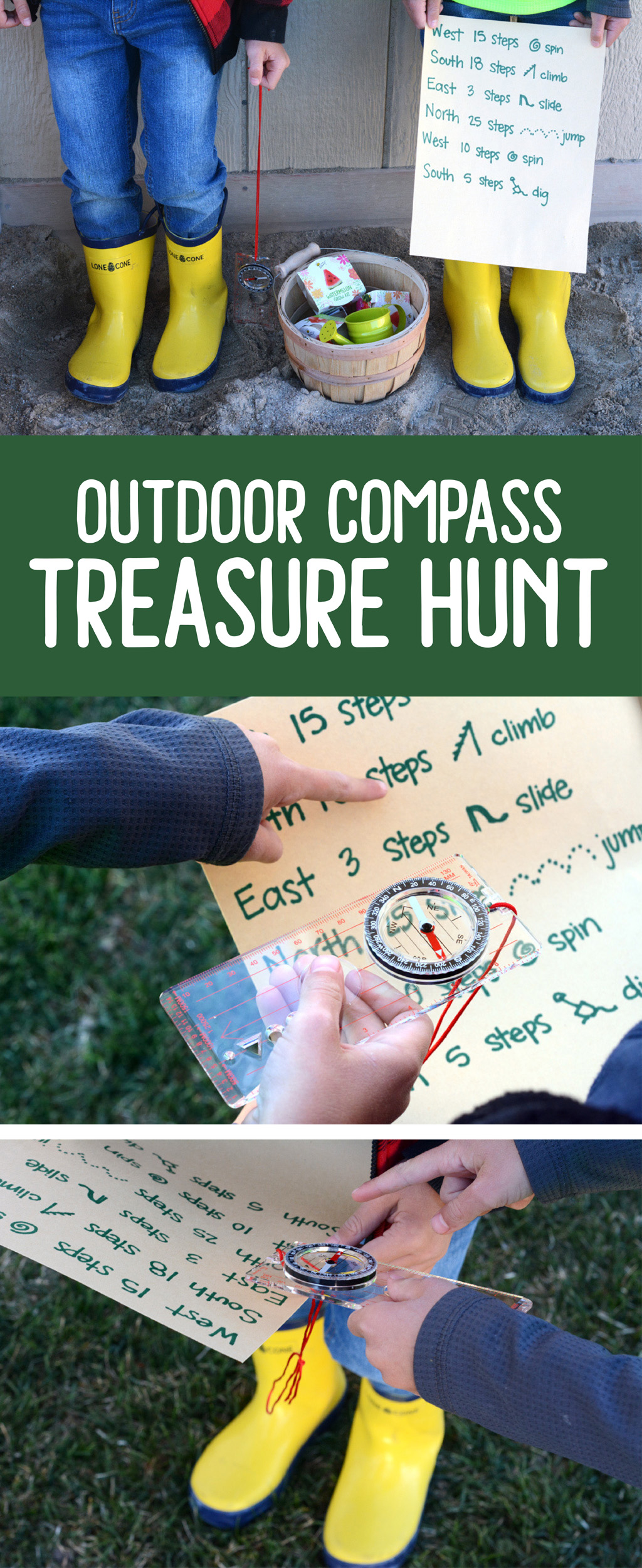 Outdoor Compass Treasure Hunt