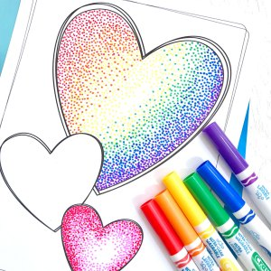 pointillism easy markers simple cool projects pages coloring drawings drawing activity painting pen heart crafting thecraftingchicks lessons hearts kid artists