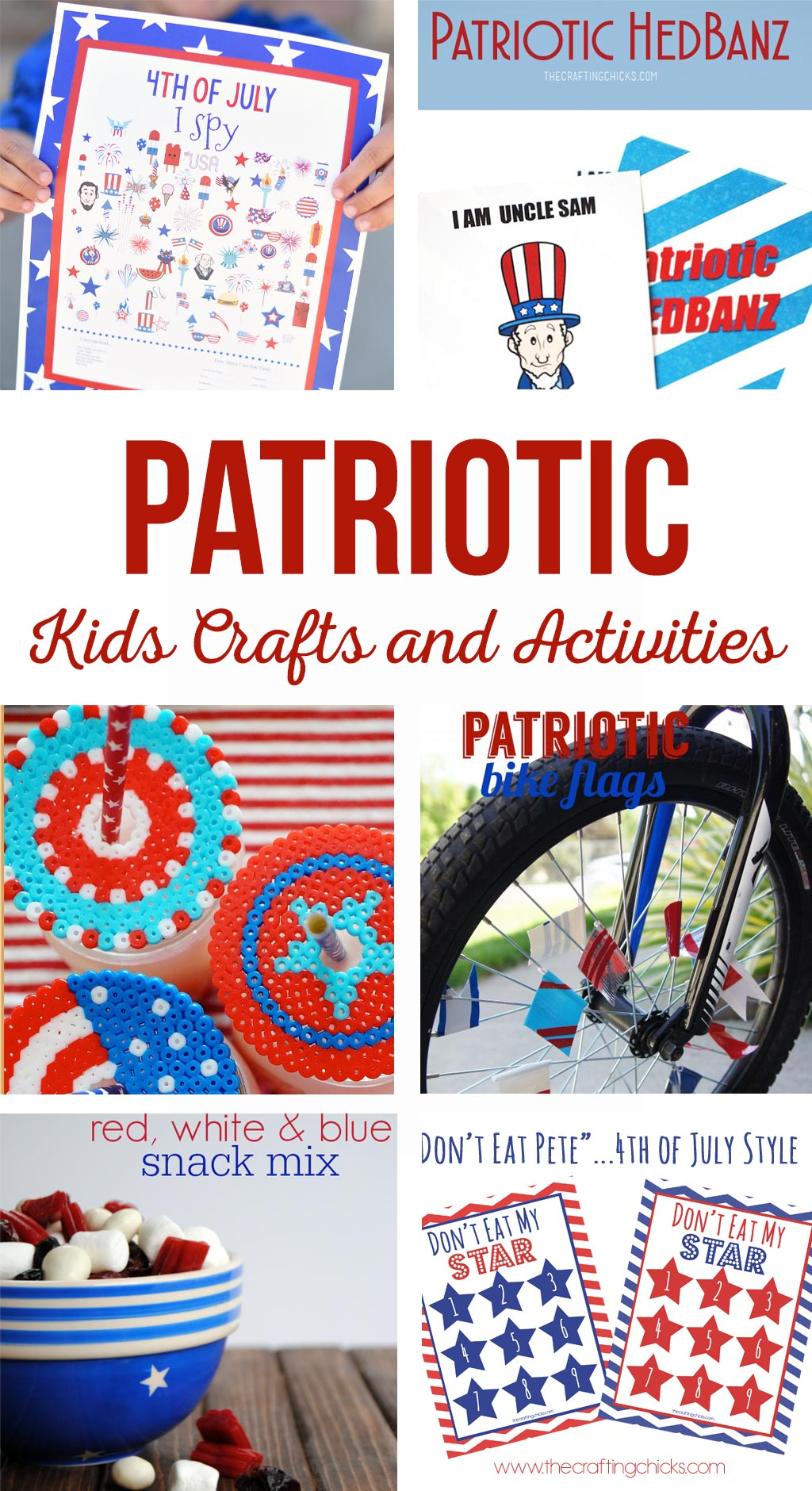 Patriotic Kids Crafts And Activities The Crafting Chicks