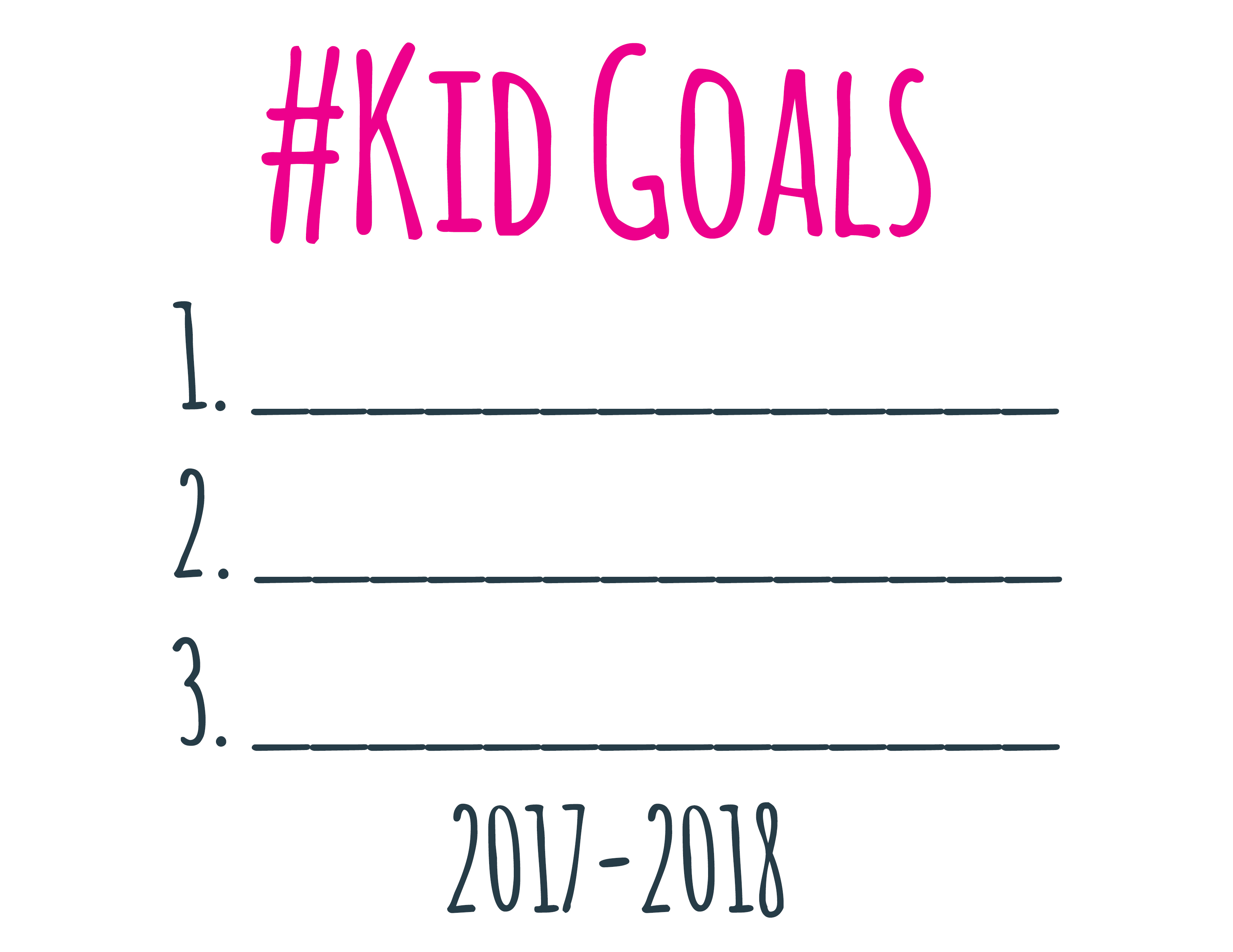 New Year Printable Goal Setting Worksheets