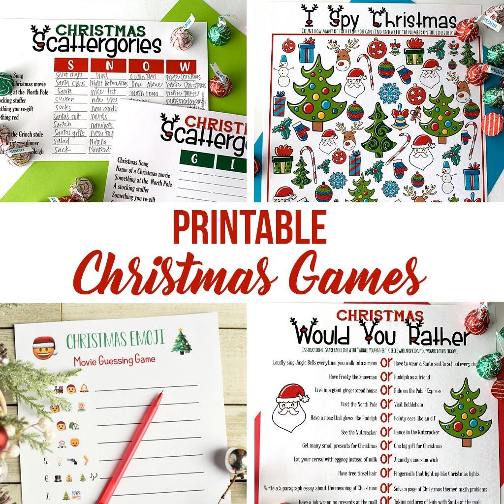 Printable Games for Christmas