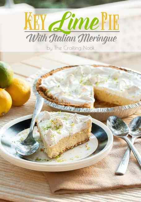 Delicious Key Lime Pie with Italian Meringue #keylimerecipes #keylimepie #pierecipes