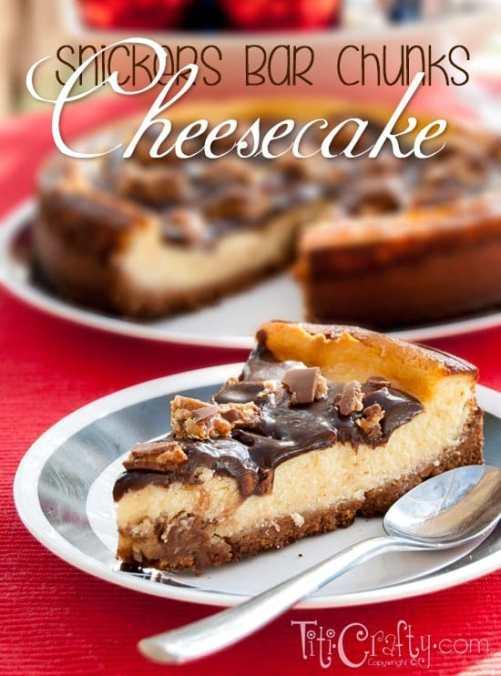 Snickers Bars Chunks Cheesecake Recipe #Cheesecakerecipe #snickersrecipe #snickerscheesecake