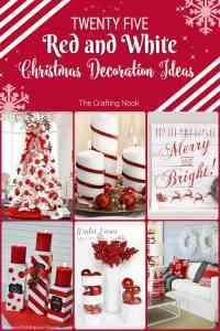 25 Red and White Christmas Decoration Ideas | The Crafting ...