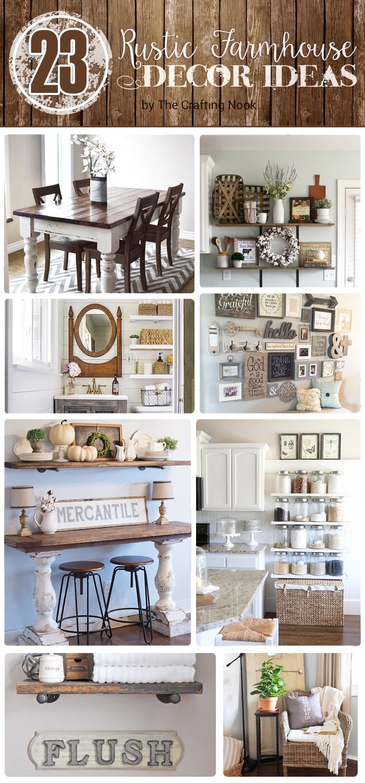 23 Rustic Farmhouse Decor Ideas | The Crafting Nook