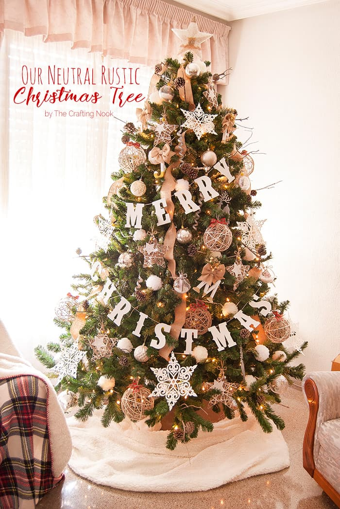 Neutral Rustic Christmas Tree The Crafting Nook