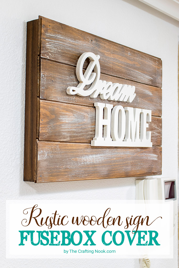 medium resolution of rustic wooden sign fusebox cover how to the crafting nook