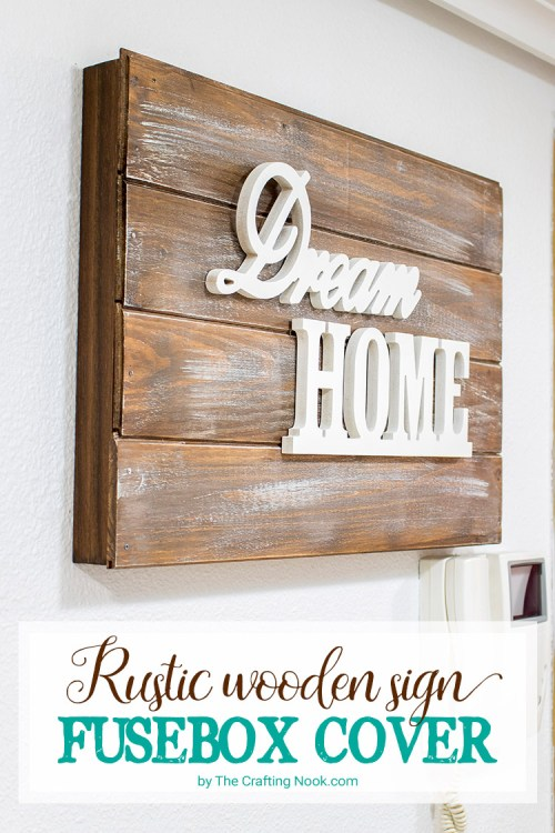 small resolution of rustic wooden sign fusebox cover how to the crafting nook