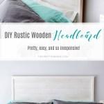 Diy Rustic Wooden Headboard The Crafting Nook