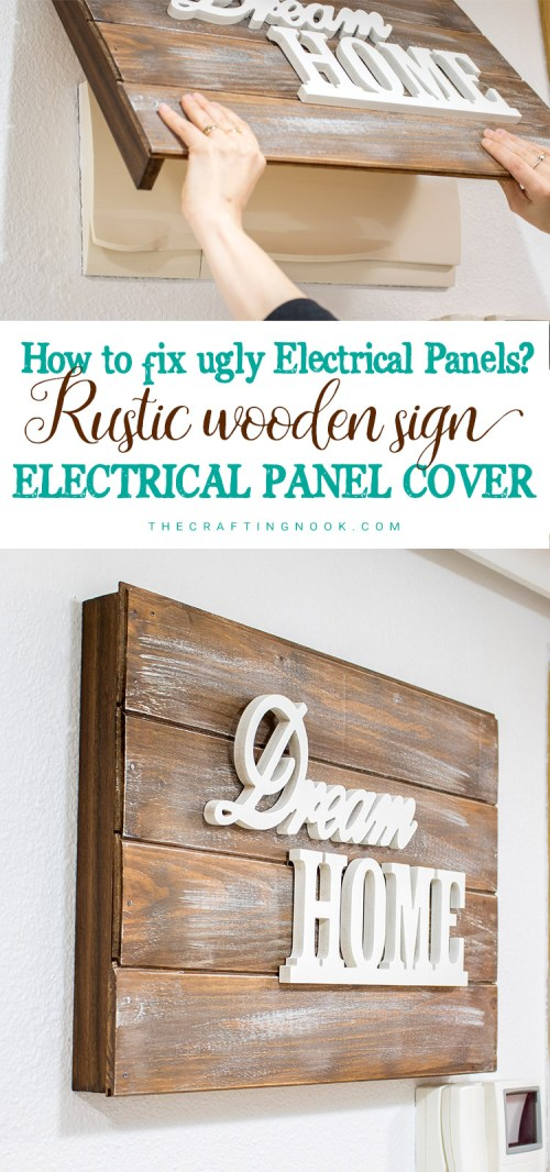 small resolution of rustic wooden sign electrical panel cover