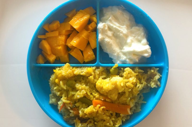 Veggie Pulao for toddlers