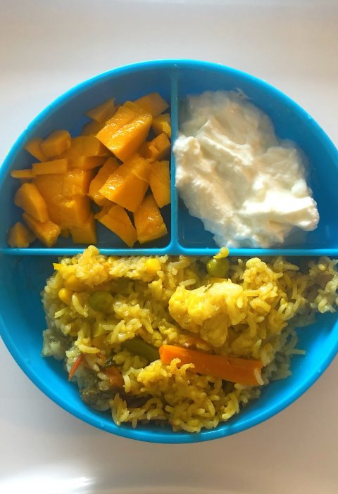 Veggie biryani for toddlers
