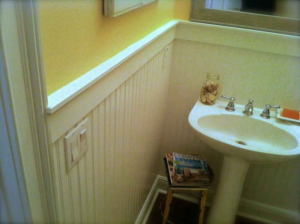 chair rail corners without coping covers for living room how to install beadboard wainscoting like a pro
