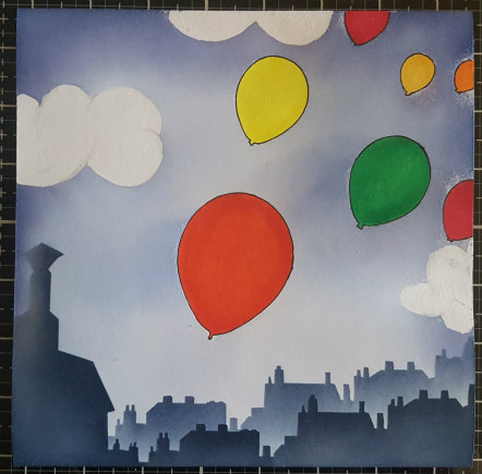 Colour in the balloons