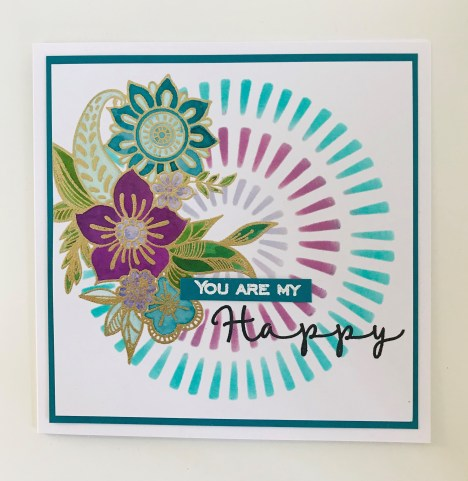 Funky floral designs papercraft
