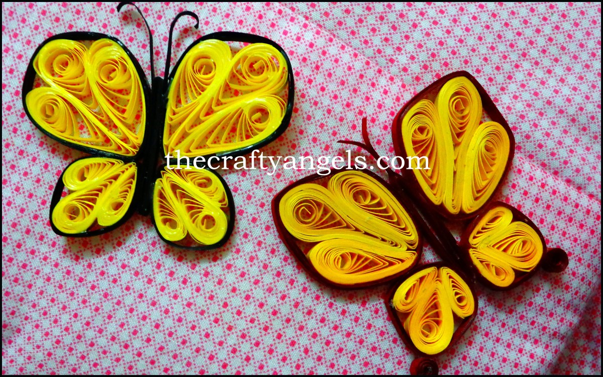 Quilling Butterfly Tutorial #4
