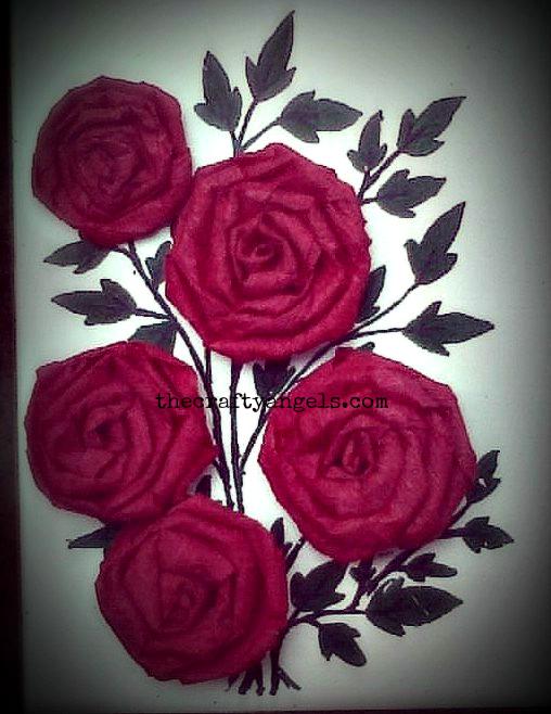 crepe paper rose flower tutorial 1
