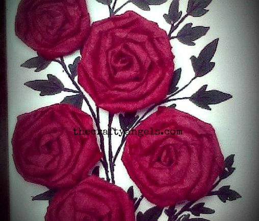crepe paper rose flower tutorial 1