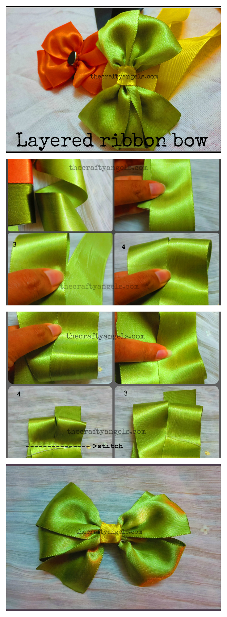 ribbon-bow-tutorial-collage