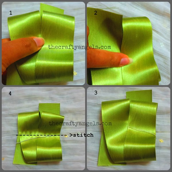 ribbon bow tutorial step 2