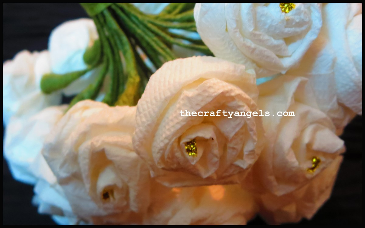 How to make Tissue Paper Rose Flowers #8