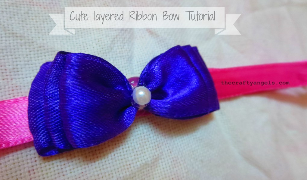 easy ribbon bows tutorial 12