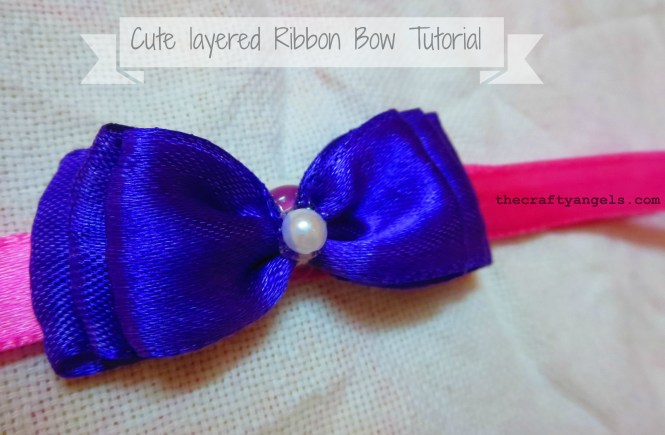 easy ribbon bows tutorial 12