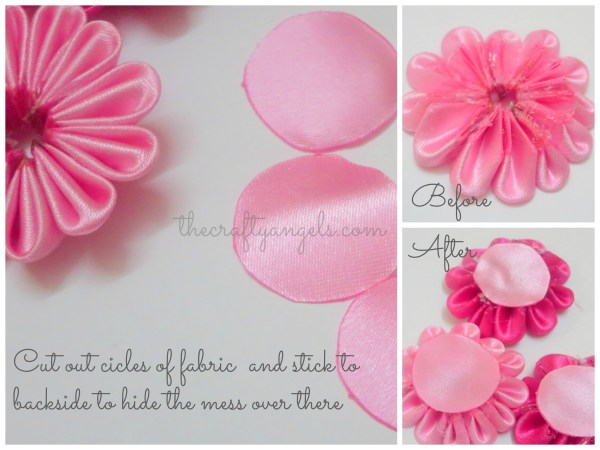 Kanzashi ribbon flower tutorial (2)