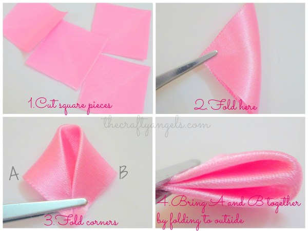 Kanzashi ribbon flower tutorial (7)
