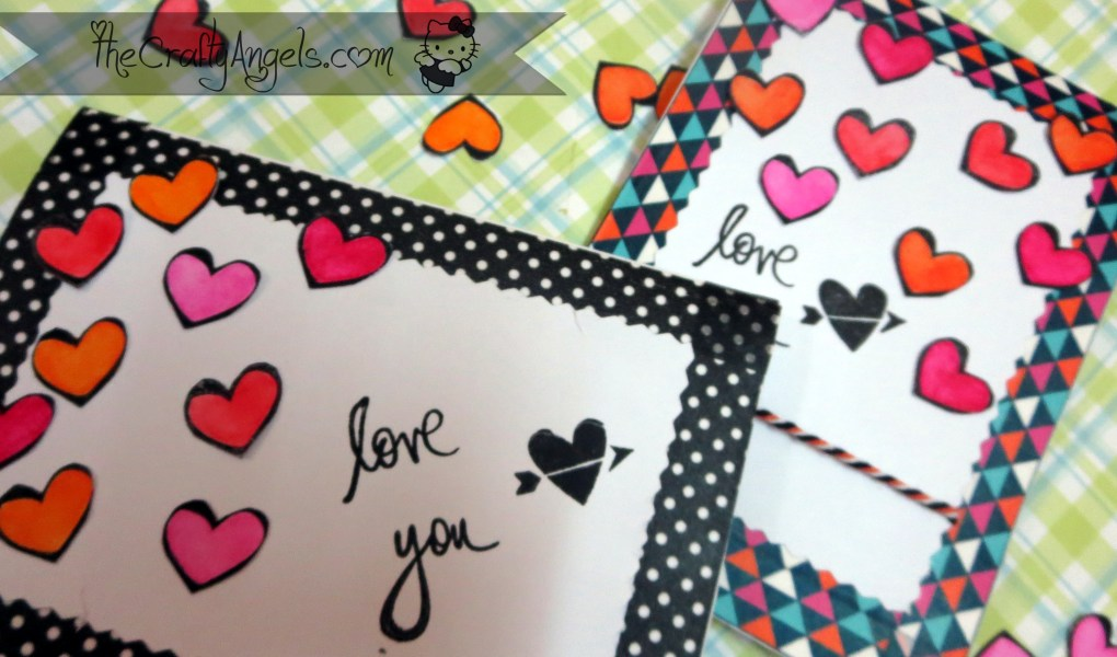 Confetti Hearts card tutorial (9)