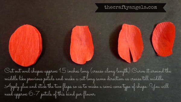 Crepe paper flower tutorial (9)