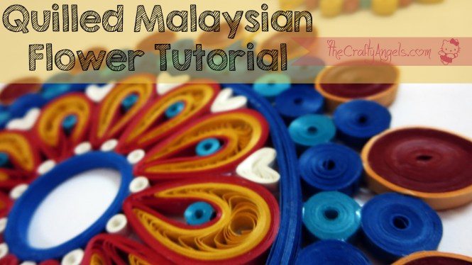 Quilled Malaysian flower tutorial (4)