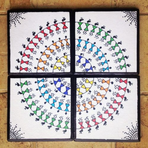 A Complete Warli Painting Tutorial Guide The Crafty Angels