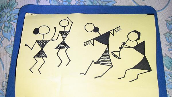 How To Draw Warli Art Step By Step