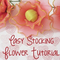 Easy Stocking Flower tutorial
