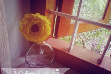 DIY Crepe gerbera flower tutorial (3)