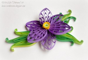 husking flower tutorial quilling